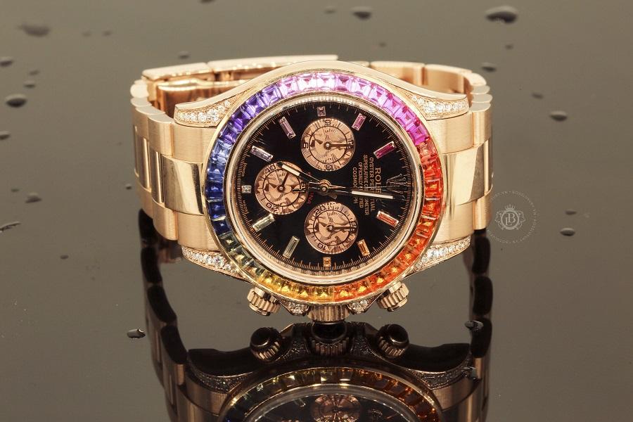 Review đồng hồ Rolex Daytona Rainbow Rose Gold: siêu phẩm năm 2019