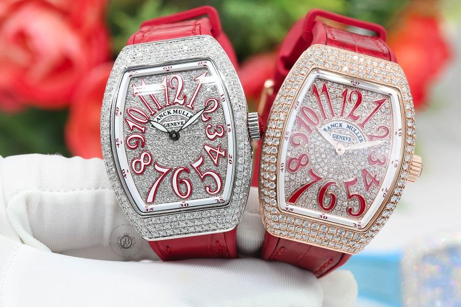 Review bộ đôi đồng hồ Franck Muller Vanguard Lady V32 Custom Diamond