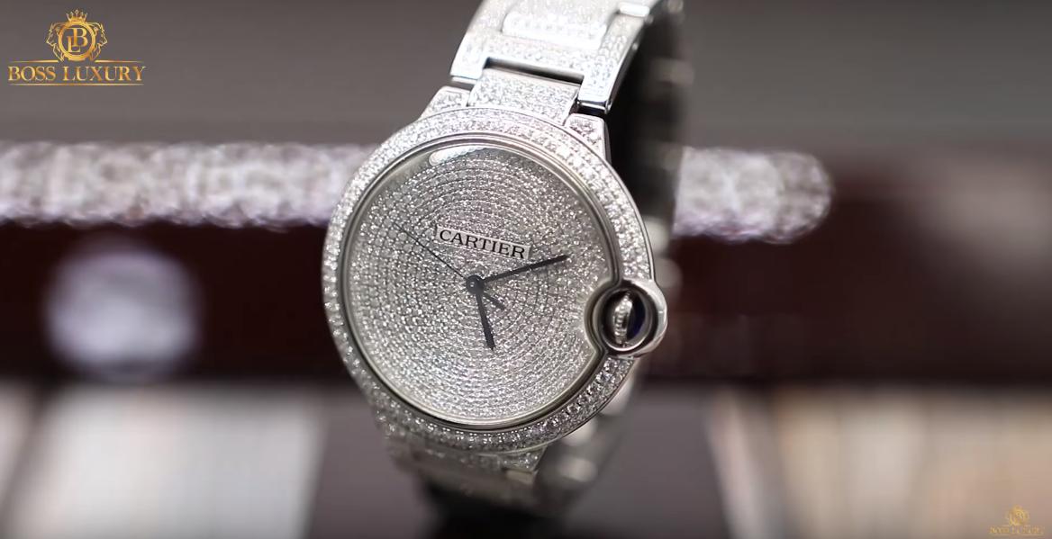 Review đồng hồ Cartier Ballon Bleu Full Diamond : Biểu tượng của Cartier