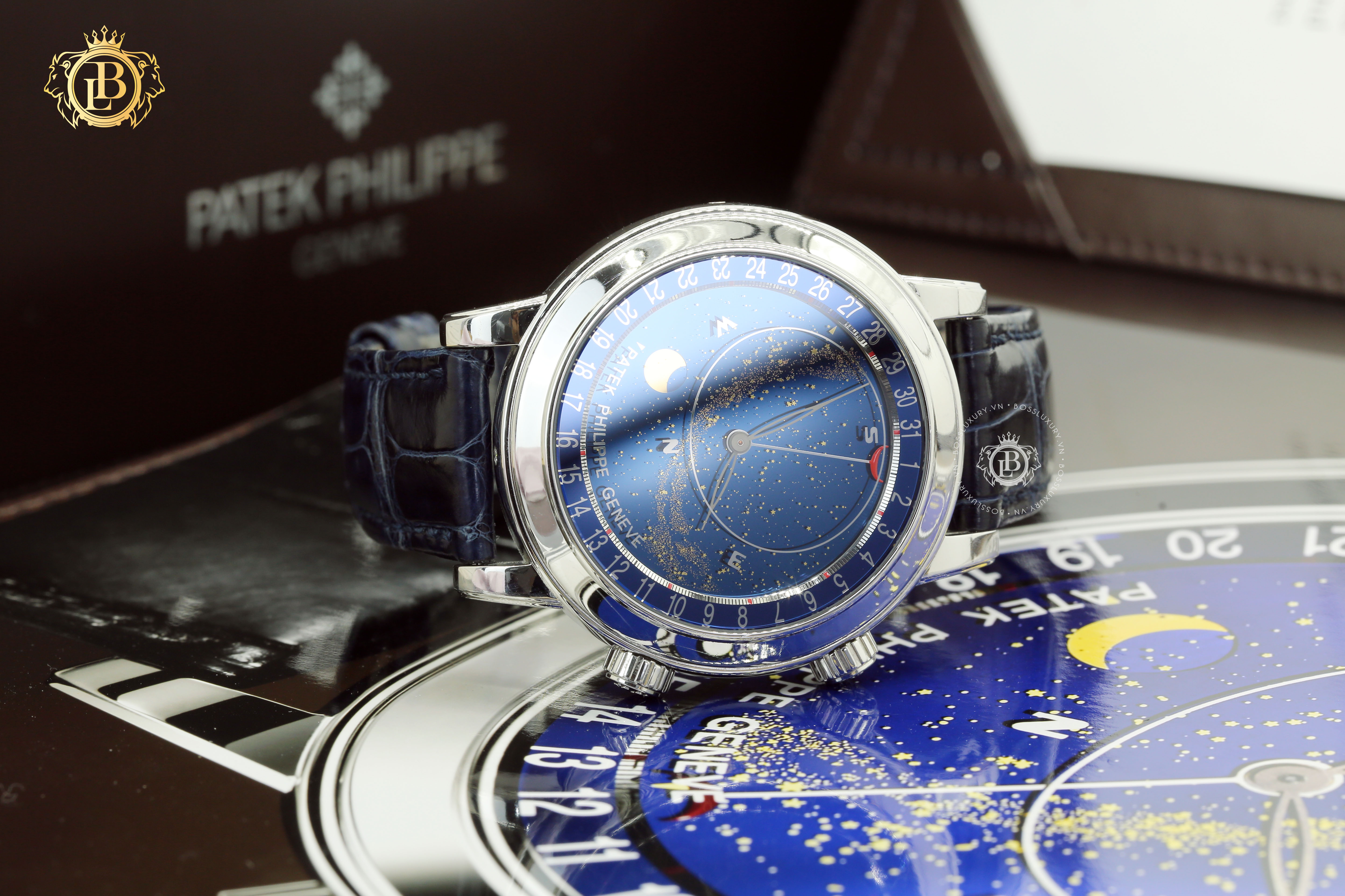 Review đồng hồ Patek Philippe Grand Complications Celestial 6102P 001 : đỉnh cao moon-phase