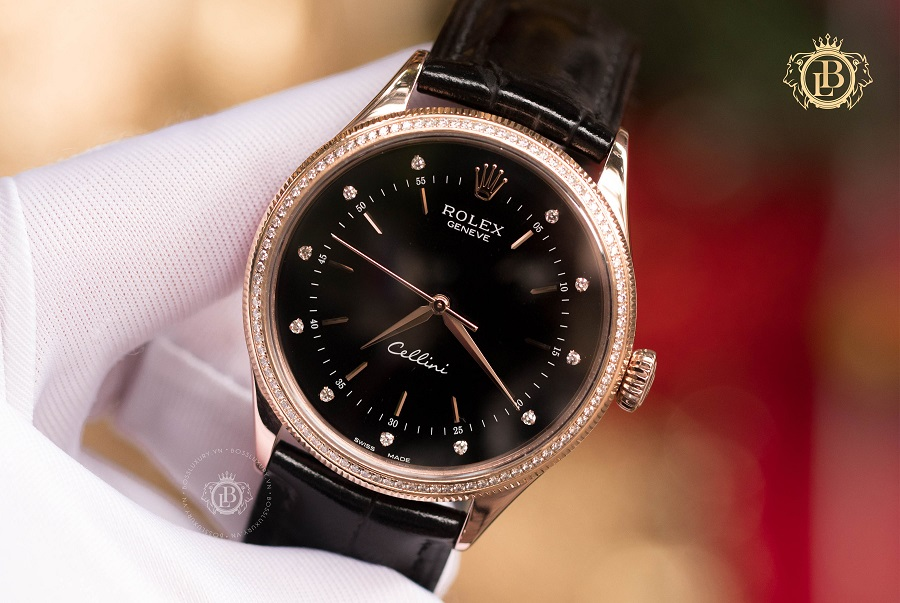Review đồng hồ Rolex Cellini Black Dial - Rolex đen lạ cuốn hút