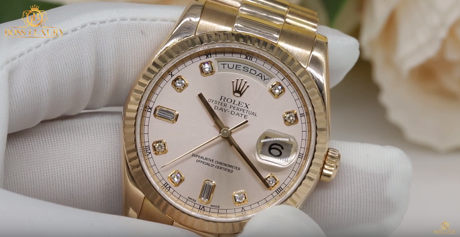 Review đồng hồ Rolex Day Date Gold 36mm