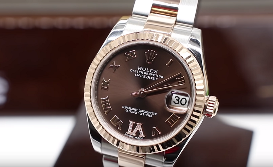 Review đồng hồ ROLEX Lady DateJust 31 mặt số chocolate