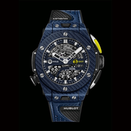 Ra mắt mẫu đồng hồ Hublot Big Bang Unico Golf Carbon Blue