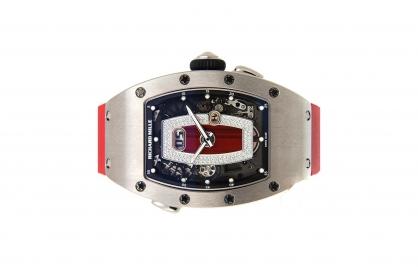 Đồng hồ Richard Mille RM 37 Titanium Red Dial Vành Titanium Trắng