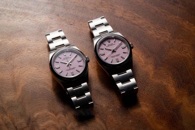 Review đồng hồ Rolex Oyster Perpetual 126000 hồng candy nhẹ nhàng và thanh lịch