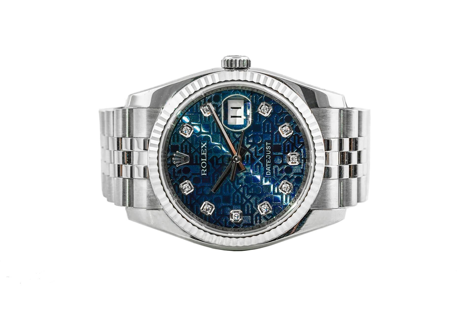Review đồng hồ Rolex Datejust mặt xanh vi tính