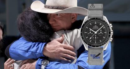 Đồng hồ Omega đồng hành cùng Jeff Bezos bay vào không gian
