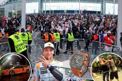 Tay đua F1 Lando Norris bị cướp giật chiếc đồng hồ Richard Mille ngay tại sân vận động Wembley