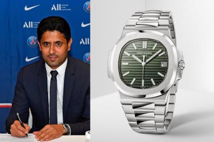 Đồng hồ Patek Philippe Nautilus 5711A Green Dial xuất hiện cùng chủ tịch PSG trong ngày ký hợp đồng với Messi
