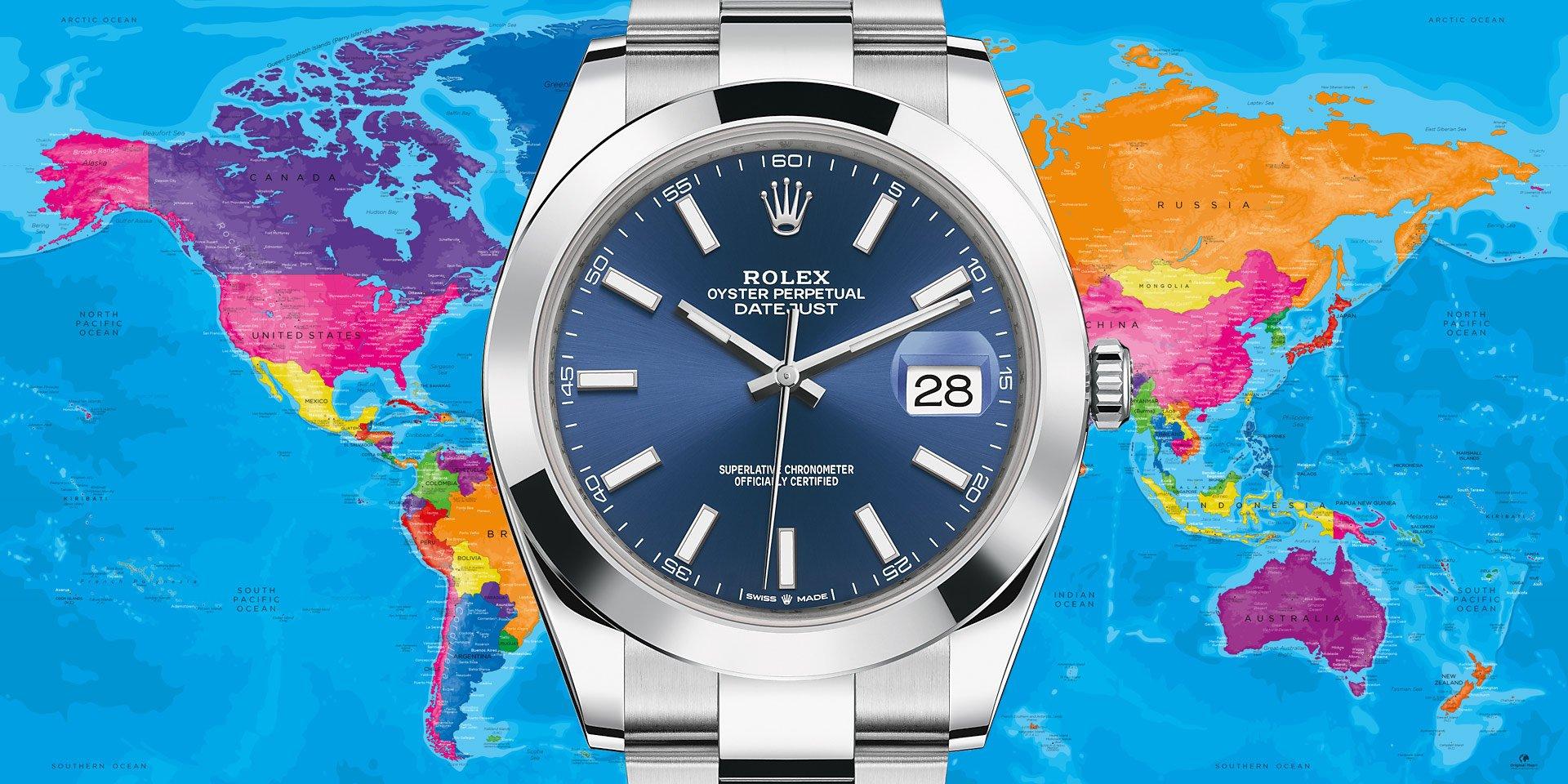 Đồng hồ Rolex dẫn đầu ở Mĩ, Anh, Thụy Sĩ tụt hạng tại Úc, Đức, Nhật Bản