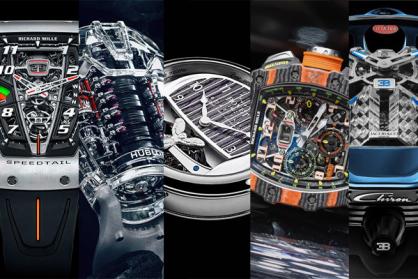 Top 5 mẫu đồng hồ đẳng cấp lấy cảm hứng từ siêu xe hàng đầu