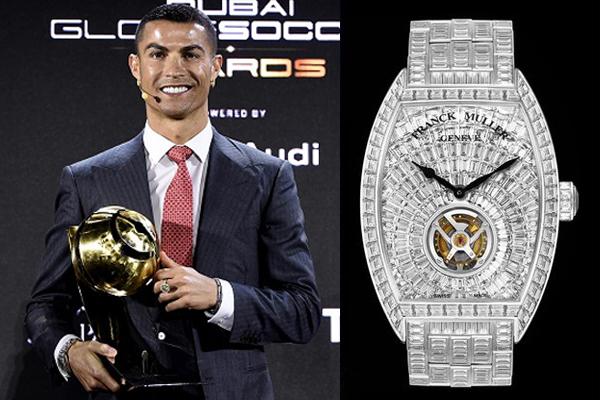 Cristiano Ronaldo diện đồng hồ 1.500.000 USD đi nhận giải 'Cầu thủ xuất sắc nhất thập kỷ'