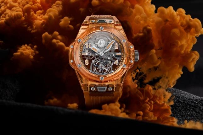 Hublot giới thiệu đồng hồ Big Bang Tourbillon Automatic Orange Sapphire phiên bản mới năm 2021