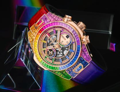 Hublot ra mắt Big Bang Unico trị giá 348.000 USD lấy cảm hứng từ cầu vồng và vàng đẳng cấp