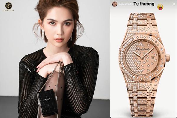 Ngọc Trinh tự thưởng đồng hồ hơn 1,8 tỉ đồng hậu cán mốc 5 triệu follow Instagram