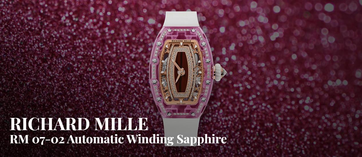 RM 07-02 Automatic Winding Sapphire: Cách tiếp cận mới với kim cương thông qua sapphire màu của Richard Mille