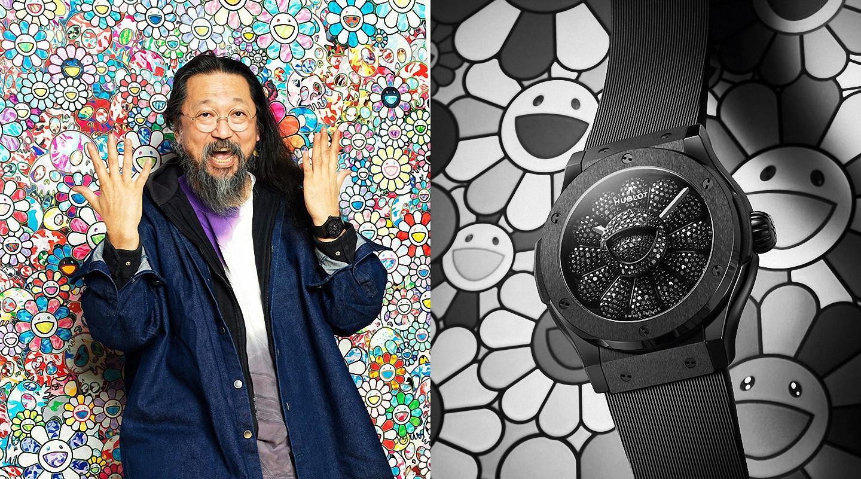 Takashi Murakami mang đến bông hoa tươi cười cho Hublot Classic Fusion All Black