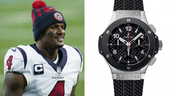 Deshaun Watson vừa mua 15 chiếc đồng hồ Hublot Big Bang làm quà tặng đặc biệt cho đồng đội và huấn luyện viên của anh