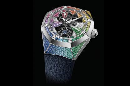 Audemars Piguet kết hợp nghệ thuật chế tạo đồng hồ cao cấp và nghệ thuật nạm đá quý trong sáu chiếc Royal Oak Concept Flying Tourbillon mới