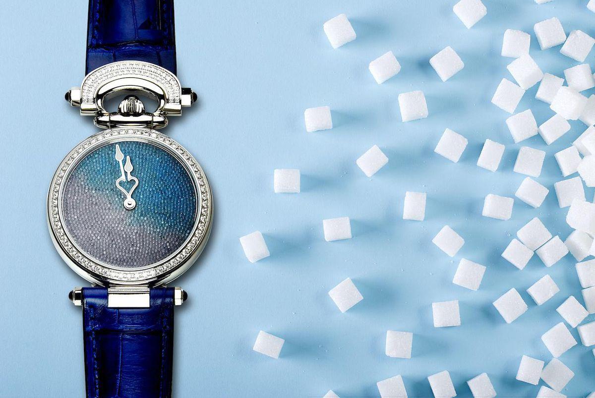 Bovet Miss Audrey Sweet Art: Chiếc đồng hồ đầu tiên trên thế giới có mặt số được làm từ tinh thể đường nguyên chất