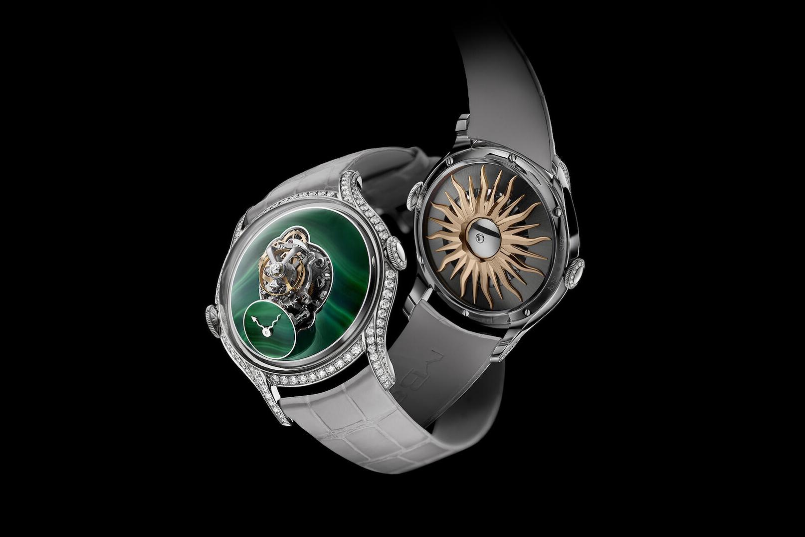 MB&F Legacy Machine FlyingT Malachite: Kiệt tác đồng hồ đeo tay với mặt số Malachite tuyệt đẹp