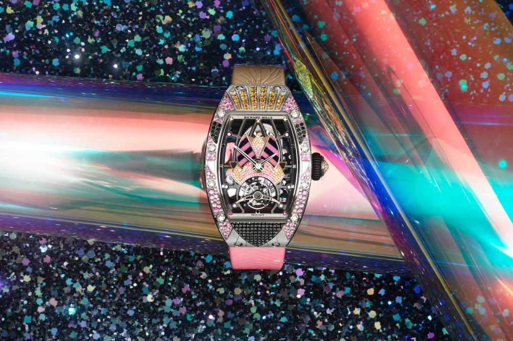 Richard Mille tái hiện thời kỳ Disco hoàng kim với chiếc đồng hồ mới RM 71-02 Automatic Tourbillon Talisman