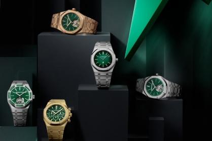 Audemars Piguet sử dụng màu xanh lục cho 5 mẫu đồng hồ Royal Oak mới của năm 2021