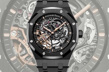 Audemars Piguet Royal Oak Double Balance Wheel Openworked In Black Ceramic: Chiếc đồng hồ Royal Oak đầu tiên được chế tác với chất liệu Ceramic