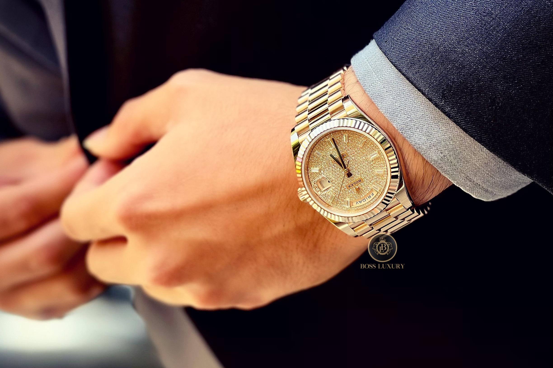 Top 5 mẫu đồng hồ Rolex Day-Date 40mm đẹp nhất dành cho các quý ông đang có sẵn tại Boss Luxury