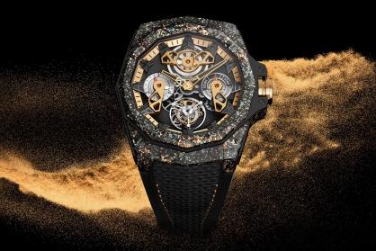 Corum Admiral 45 Automatic Openworked Flying Tourbillon Carbon & Gold: Bước đột phá mới trong chất liệu chế tác đồng hồ Corum