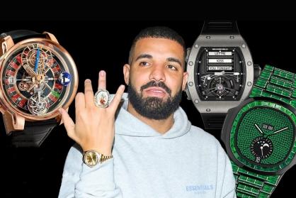 """Khám phá bộ sưu tập đồng hồ """"độc nhất"""" của nam rapper Drake"""