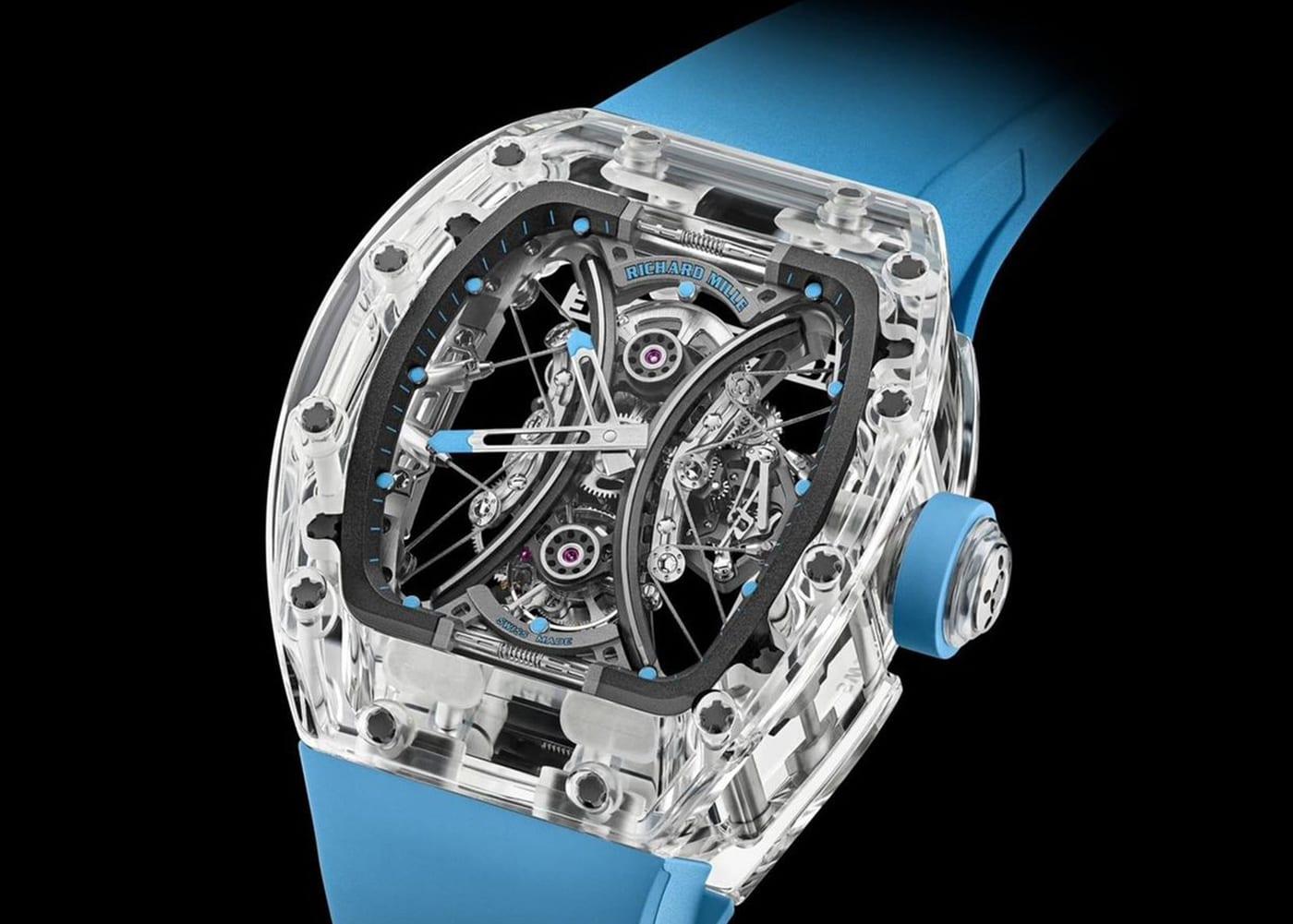 """Richard Mille RM 53-02 Tourbillon Sapphire: Một biểu hiện của sự """"vô định trong không trung"""" với sapphire"""