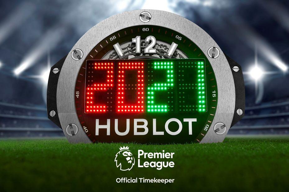Premier League công bố Hublot là thương hiệu đồng hồ bảo trợ thời gian chính thức của Premier League 2020-21