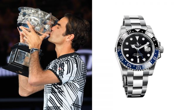 5 mẫu đồng hồ Rolex gắn liền với tên tuổi của Roger Federer