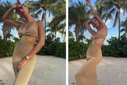 Hailey Bieber xuất hiện đầy gợi cảm với chiếc đồng hồ Rolex Lady-President