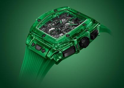 Hublot vừa cho ra mắt một mẫu đồng hồ Spirit of Big Bang với sắc xanh lục độc đáo