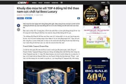 Khuấy đảo mùa hè với TOP 4 đồng hồ thể thao nam cực chất tại Boss Luxury
