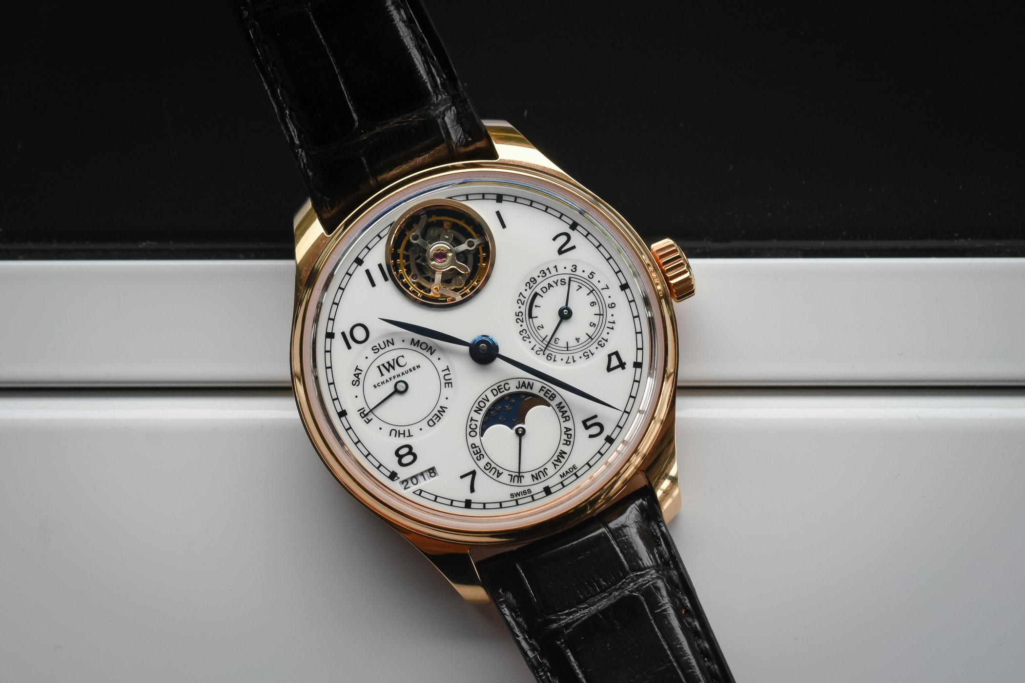 Đồng hồ IWC Portugieser Perpetual Calendar Tourbillon Edition 150 Years Limited Edition