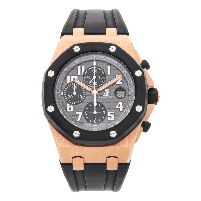 Audemars Piguet Royal Oak Offshore Rose Gold Rubber Clad 42mm