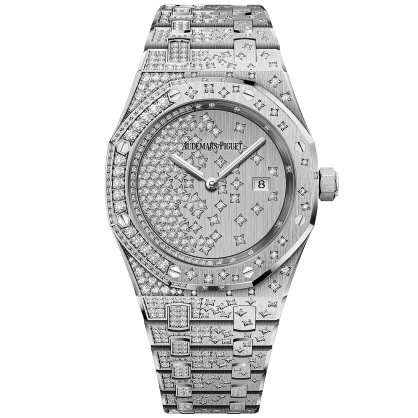 Audemars Piguet Royal Oak Ladies 18K White Gold Diamond 33mm