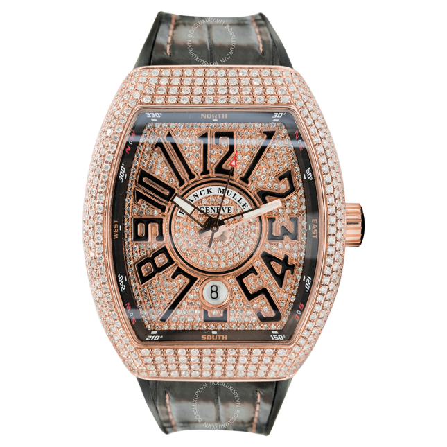 Franck Muller V41 Rose Gold Full Diamonds