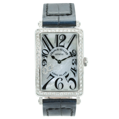 Franck Muller Long Island Steel Bezel Diamonds-1