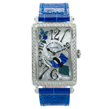 Franck Muller Long Island Steel Bezel Diamonds