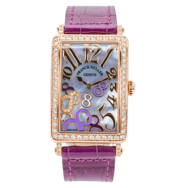 Franck Muller Long Island Rose Gold Bezel Diamonds-1
