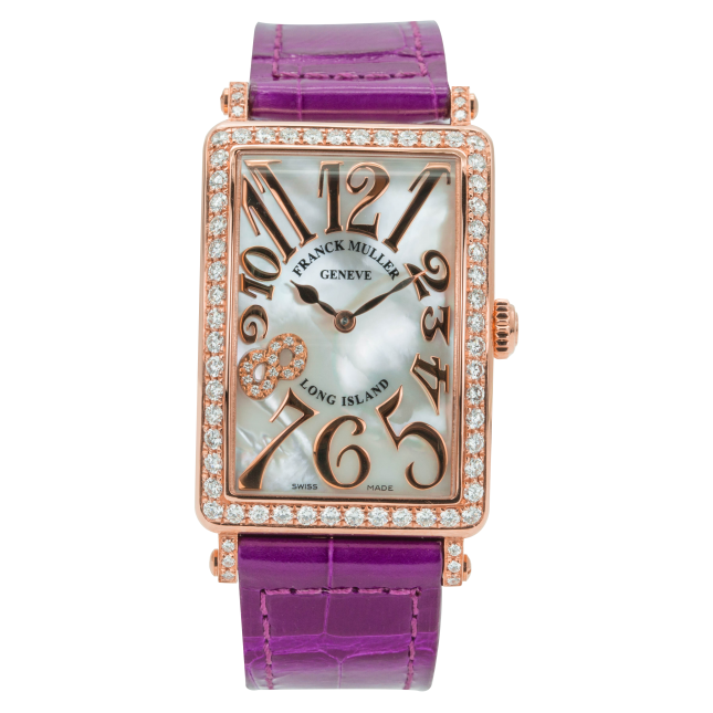 Franck Muller Long Island Rose Gold Bezel Diamonds-2