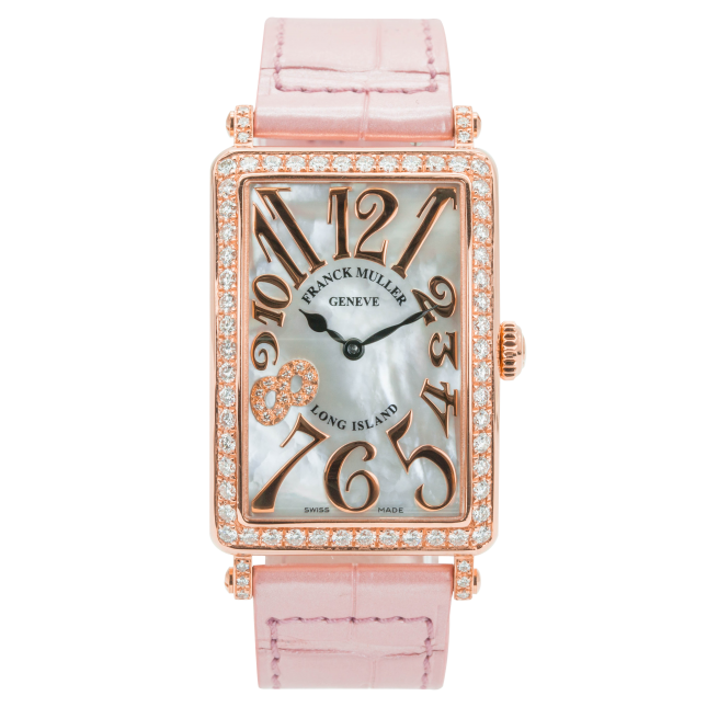 Franck Muller Long Island Rose Gold Bezel Diamonds
