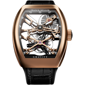 Franck Muller V45 Vanguard Gravity Skeleton Rose Gold