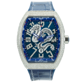 Franck Muller Yatching V45 Dragon Custom Pave Diamonds
