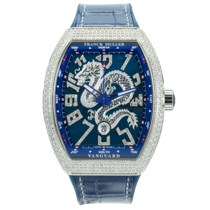 Franck Muller Yatching V45 Dragon Custom Pave Diamonds